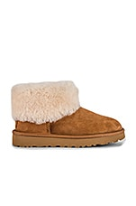 UGG Classic Mini Fluff Boot in Chestnut