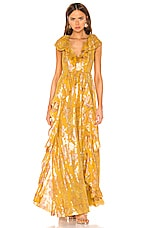 Ulla Johnson Demetria Gown in Citrine