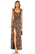 Ulla Johnson Evianna Gown in Umber