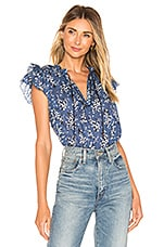 Ulla Johnson Ida Top in Cornflower