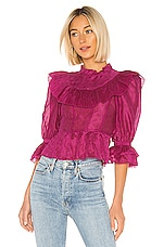 Ulla Johnson Edna Blouse in Fuchsia
