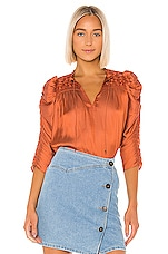 Ulla Johnson Lissa Blouse in Rust