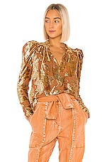 Ulla Johnson Camilla Blouse in Rose Gold