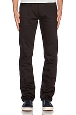 Tapered 14.5 oz. Selvedge Chino en Noir