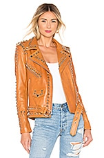Understated Leather Western Dome Easy Rider Jacket in Whiskey