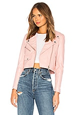 Understated Leather x REVOLVE Mercy Cropped Jacket in Pink
