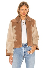 Understated Leather Stardust Jacket in Tan