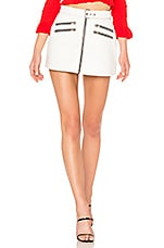 Understated Leather x REVOLVE City Slicker Leather Moto Skirt in White
