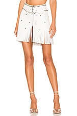 Understated Leather Howdy Skirt in White