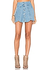 x REVOLVE Scalloped Snap Skirt in Sky Blue