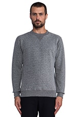 French Terry Crew Neck in Gray