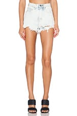 Taryn High Rise Short in Light Blue