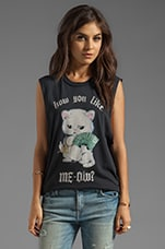 Like Meow Graphic Tank in Black