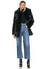 Unreal Fur Premium Rose Jacket in Deep Teal
