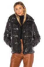 Unreal Fur Desire Puffer Jacket in Black