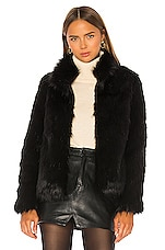 Unreal Fur Fur Delish Jacket in Black