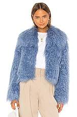 Unreal Fur Passages Jacket in Cosmic Blue