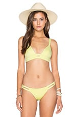 vitamin A Neutra Bralette Bikini Top in Lemon Drop