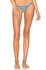 vitamin A Carmen Bikini Bottom in Marin Stripe