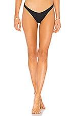vitamin A California High Leg Bottom in Black
