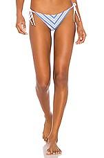 vitamin A Natalie Miter Stripe Tie Side Bottom in Regatta Stripe