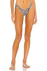 vitamin A California High Leg Bikini Bottom in Savanna