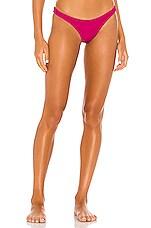 vitamin A California High Leg Bikini Bottom in Hot Pink