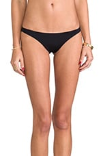 Samba Ruched Back Bottom in Black Ecolux