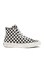 SK8 Hi Decon Overwashed in Black Check