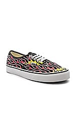 Vans Authentic Sneaker in Flames & Black & True White