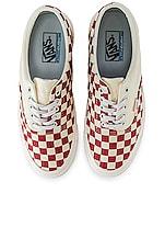Vans Podium Era Sneaker in Checkboard & Racing Red