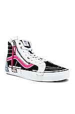 Vans Sk8-Hi Reissue Cap in Black & Azalea Pink