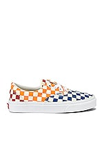 Vans Era Checkerboard Sneaker in Multi & True White