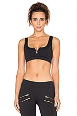 Beth Crop Sports Bra in Black