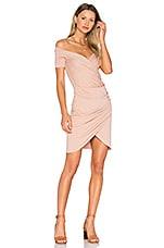 VATANIKA Draped Dress in Tan