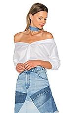 Off Shoulder Shirt in White