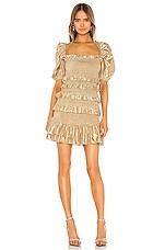 V. Chapman Juniper Dress in Gold