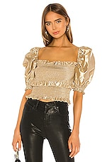 V. Chapman Leilani Blouse in Gold