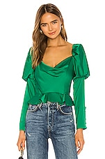 V. Chapman Isabella Blouse in Kelly Green
