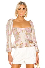 V. Chapman Georgiana Blouse in Light Pink Baroque Floral