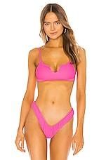 VDM Vera Bikini Top in Neon Pink