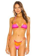 VDM Marley Bikini Top in Tie Dye Stripe