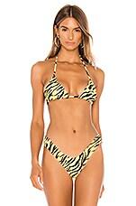 VDM Marley Bikini Top in Tiger Print