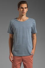 Striped T-Shirt in Blue/Grey Stripe