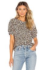 Velvet by Graham & Spencer Ashlyn Short Sleeve Sweatshirt in Leopard
