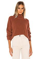 Velvet by Graham & Spencer Mindy Turtleneck Sweater in Cognac