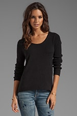 Glitzy Cashmere Classics Loose Long Sleeve in Black