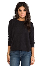 Velvet Almira Cashmere Sweater in Charcoal