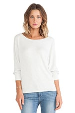 Neema Thermal Knit Dolman Pullover in Cream