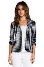 Velvet Ponti Stripes Electra Blazer in navy